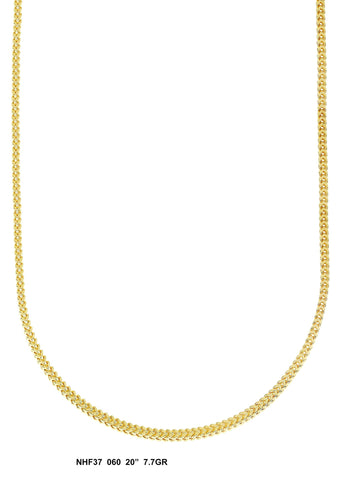 Yellow Gold Franco Chain 7.7 Grams, 20 Inches