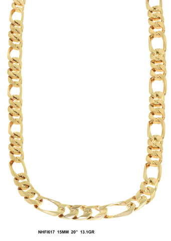Yellow Gold Figaro Link Chain 13.1 Grams