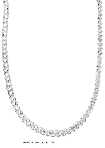 White Gold Fancy Link Chain 12.7 Grams