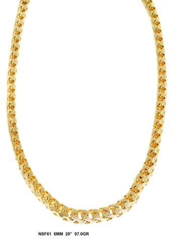 Yellow Gold Franco Chain 97 Grams