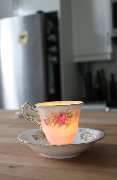 Dot & Lil kitchen soy candle vintage teacup
