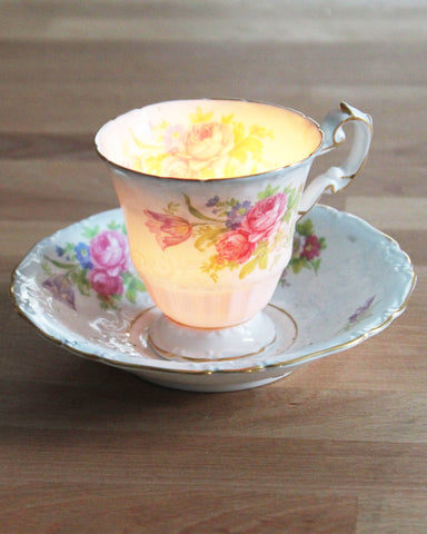 teacup candle tasse bougie vintage