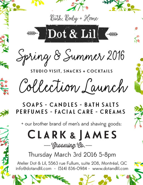 spring launch invitation