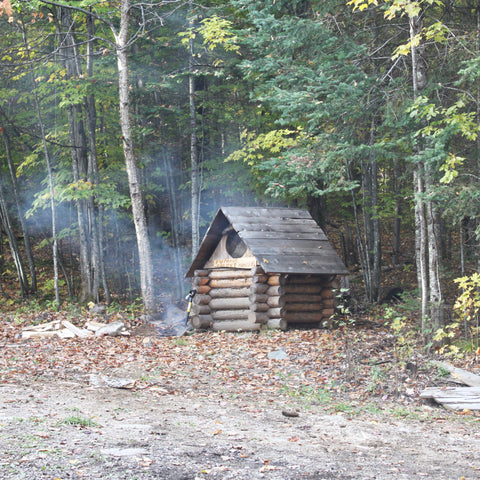 fall cabin smokehouse