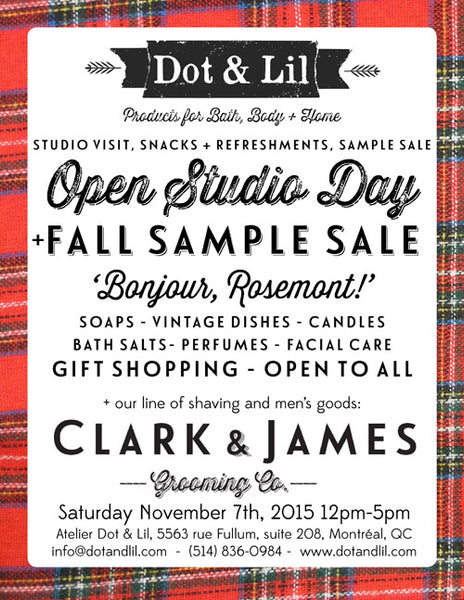 Dot & Lil fall open house invitation