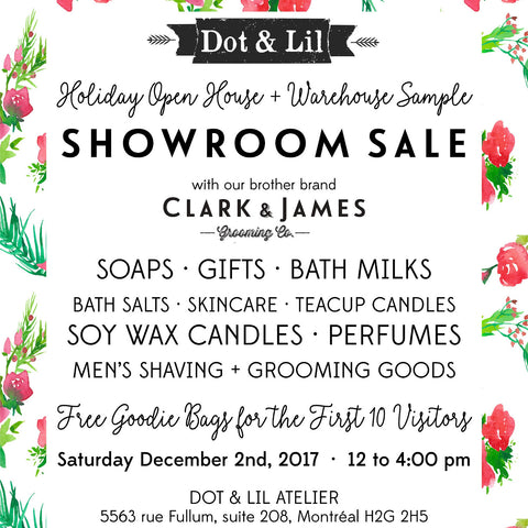 warehouse sale at the Dot & Lil atelier on December 2nd 2017