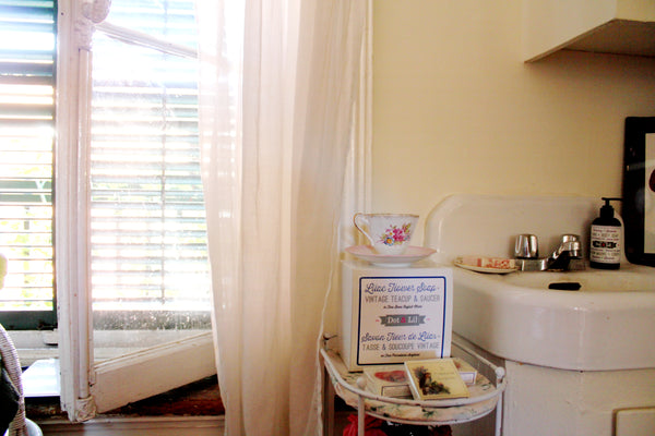 dreamy bright romantic window and sink
