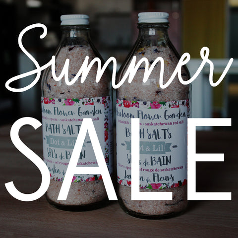 dot and lil summer bath and skincare sale