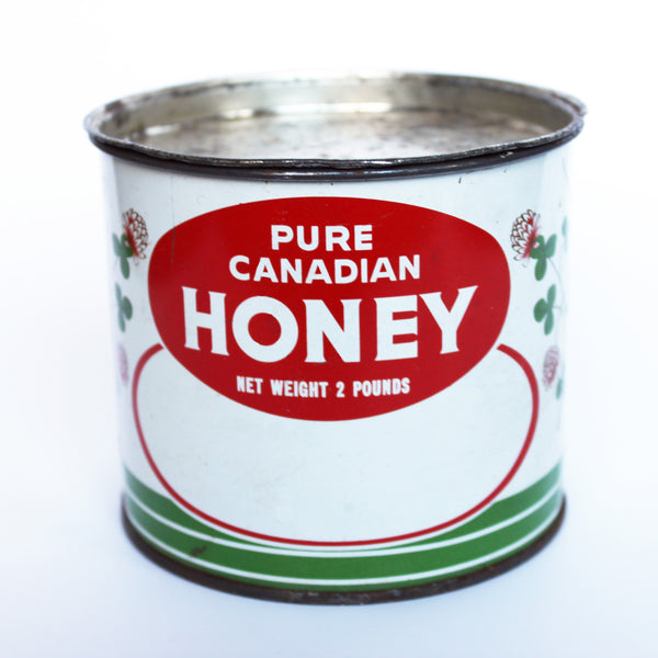 vintage honey tin