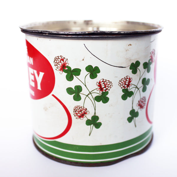 red clover pure canadian honey tin