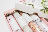library of bath salts gift set| coffret collection de sels bain