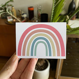 """Everything Will Be Okay"" rainbow greeting card