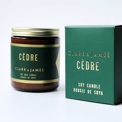 Clark & James Cèdre candle|bougie Cèdre Clark & James