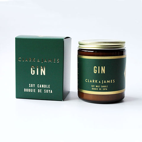 Clark & James Gin candle|bougie Gin Clark & James