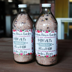 heirloom flower garden bath salt|sels de bain jardin de fleurs