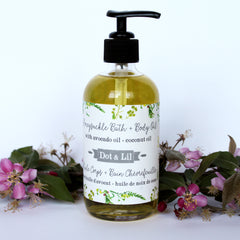 honeysuckle body oil|huile pour le corps chèvrefeuille
