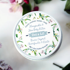 honeysuckle & shea body butter|beurre corporel chèvrefeuille & karité