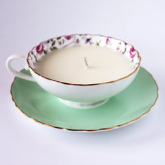 honeysuckle teacup candle|tasse-bougie chèvrefeuille