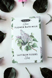 lilac flower bath milk packet