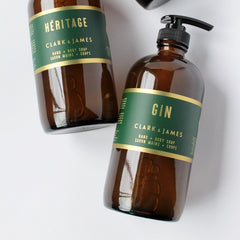 Clark & James Gin liquid soap|savon liquide Gin Clark & James