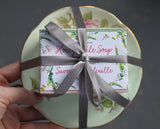 vintage plate soap hostess gift