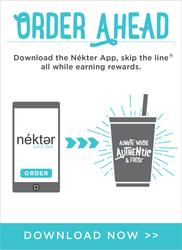 Order ahead skip the line save time and earn rewards with the Nekter App