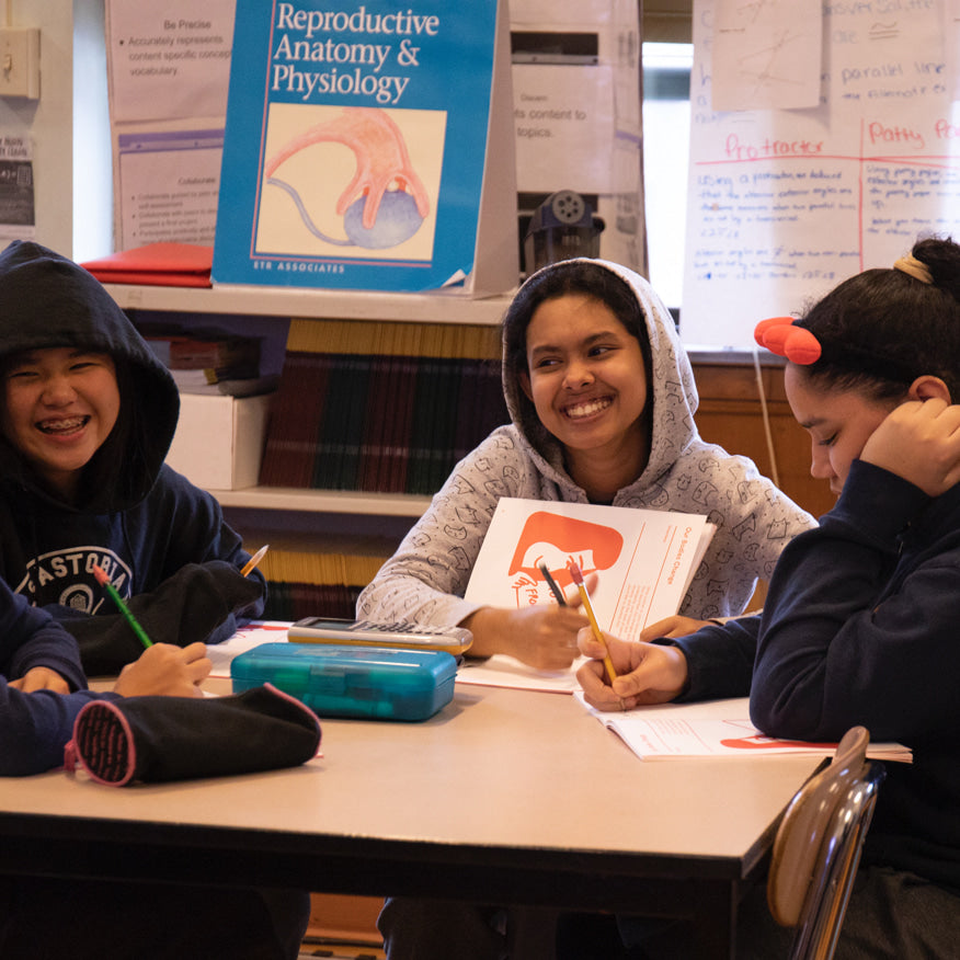Students participating in Thinx Inc.'s EveryBody program.