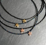 Beaded choker necklace Star