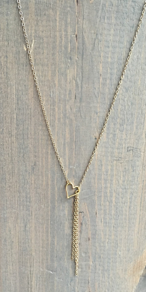 "Dainty Lariat Necklace 20-24"" Bea"