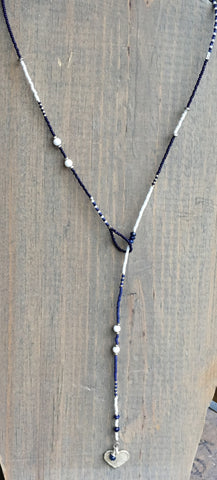 "Beaded Lariat Necklace 20-24"" Caroline"