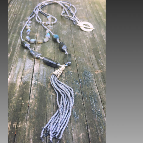 Beaded triple strand Necklace