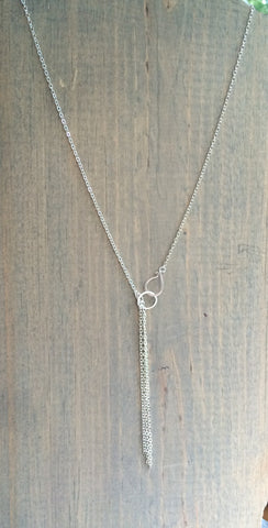 "Dainty Lariat Necklace 20-24"" Chantal"