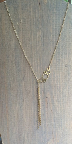 "Dainty Lariat Necklace 20-24"" Cecilia"