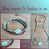 Wrap bracelet/Necklace 21""