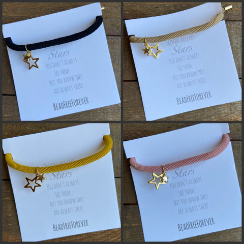 'Friends are like Stars' stretchy bracelet