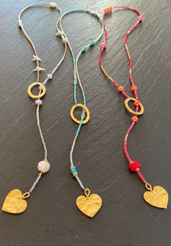 "Beaded Lariat 20-24"" 'Love'"