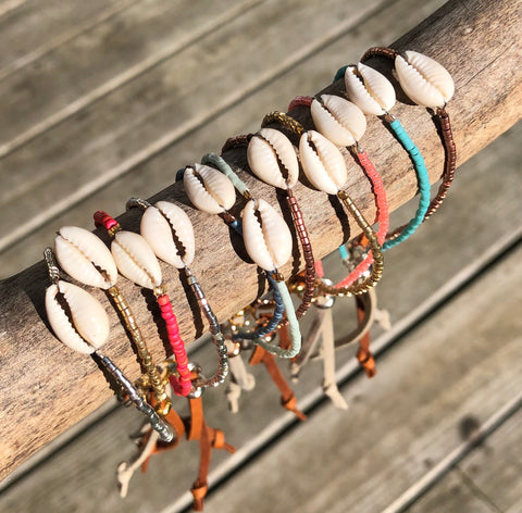 Cowrie Shell Beaded Bracelet