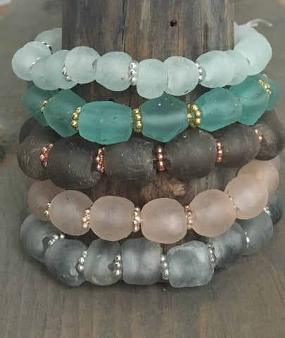 African Sea glass Bracelets