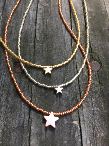 Dainty Necklace Star