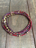 Beaded Mask chain/necklace/wrap bracelet