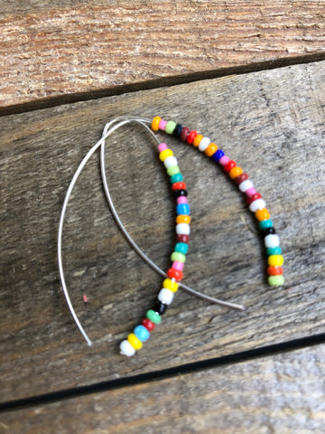 Seed beaded earrings