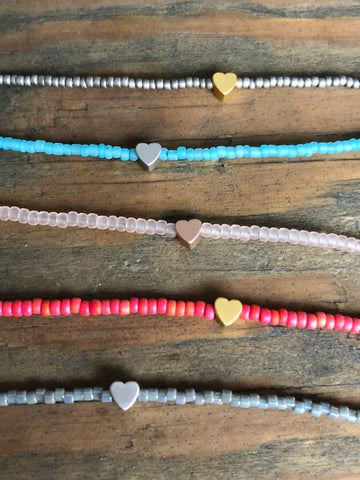 Beaded Choker Necklace 'Heart'