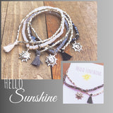 'Hello Sunshine' beaded bracelets