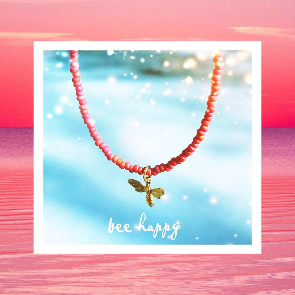 Beaded Necklace 'Bee Happy'