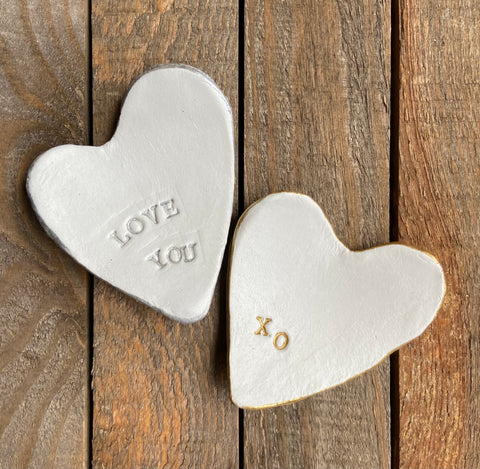 Clay Heart Trinket Dish