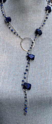 Chunky Lariat/Necklace 'Azul'