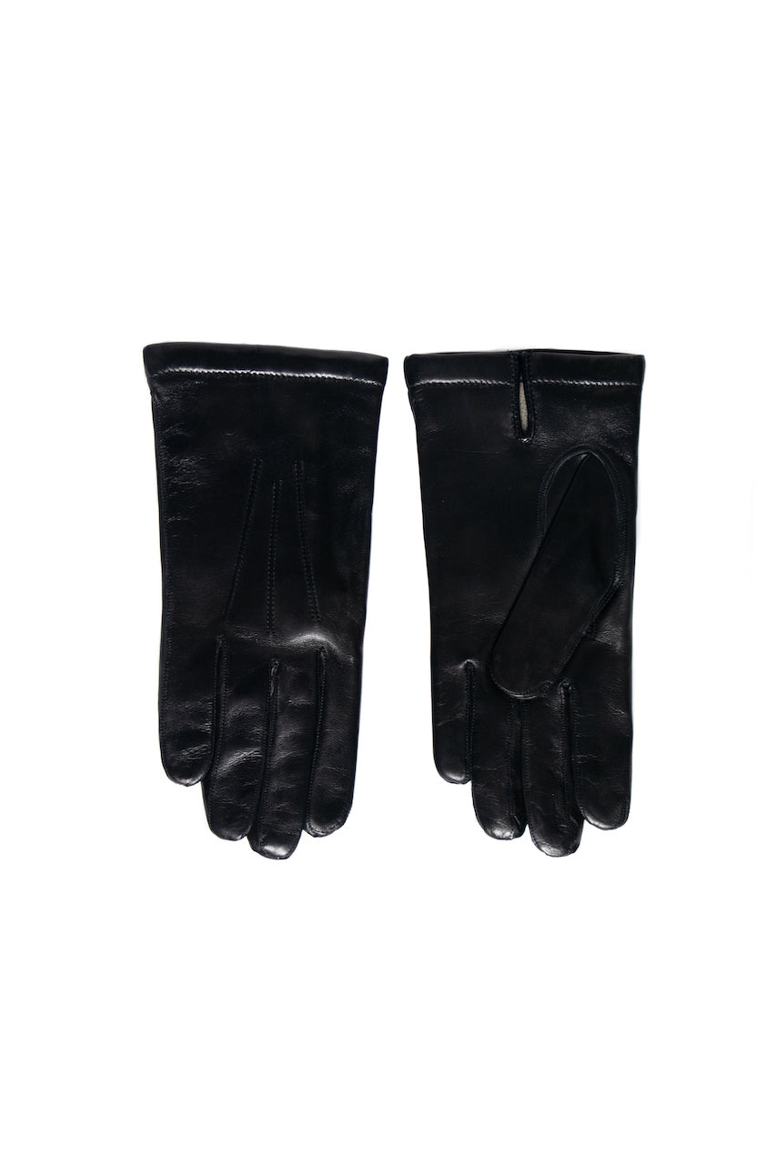 Women Leather Gloves | Black