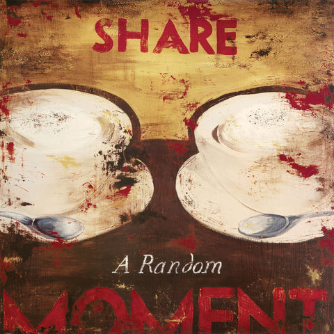 """Share A Random Moment"" Embellished Canvas"