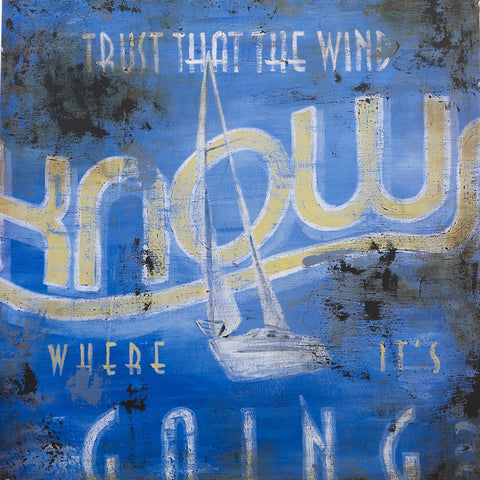 """Wind Knows"" Embellished Canvas"