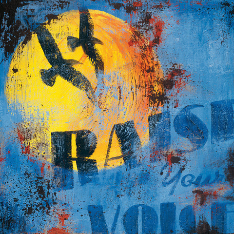 """Raise Your Voice"" Embellished Canvas"